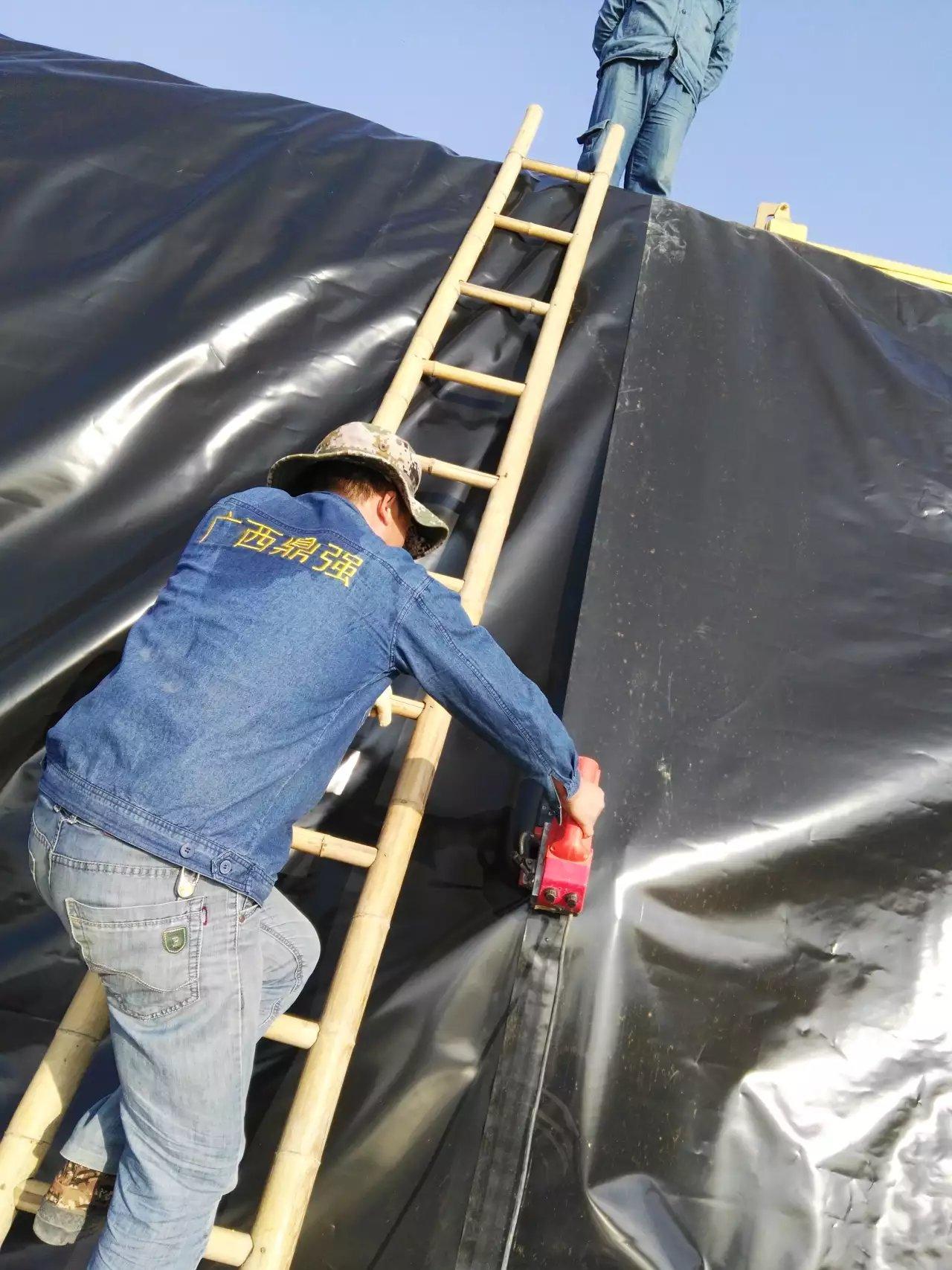 广西自治区鱼类养殖基地防渗膜铺设工程  养殖防渗膜 第2张