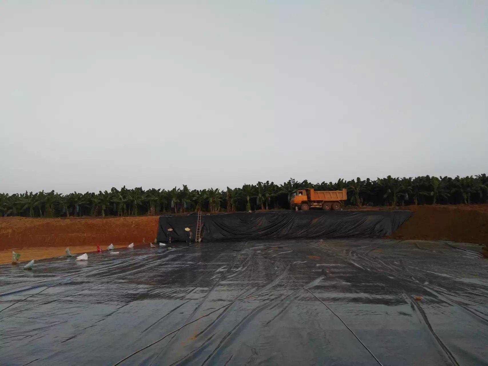 广西自治区鱼类养殖基地防渗膜铺设工程  养殖防渗膜 第3张