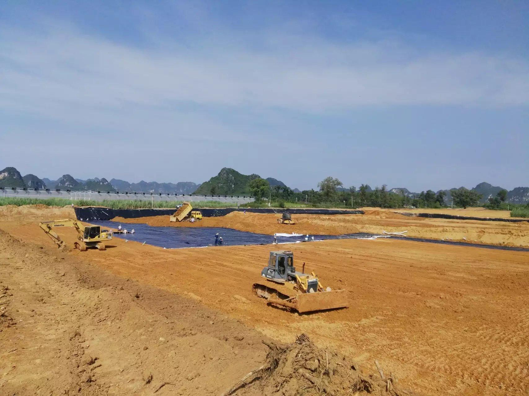 广西自治区鱼类养殖基地防渗膜铺设工程  养殖防渗膜 第5张