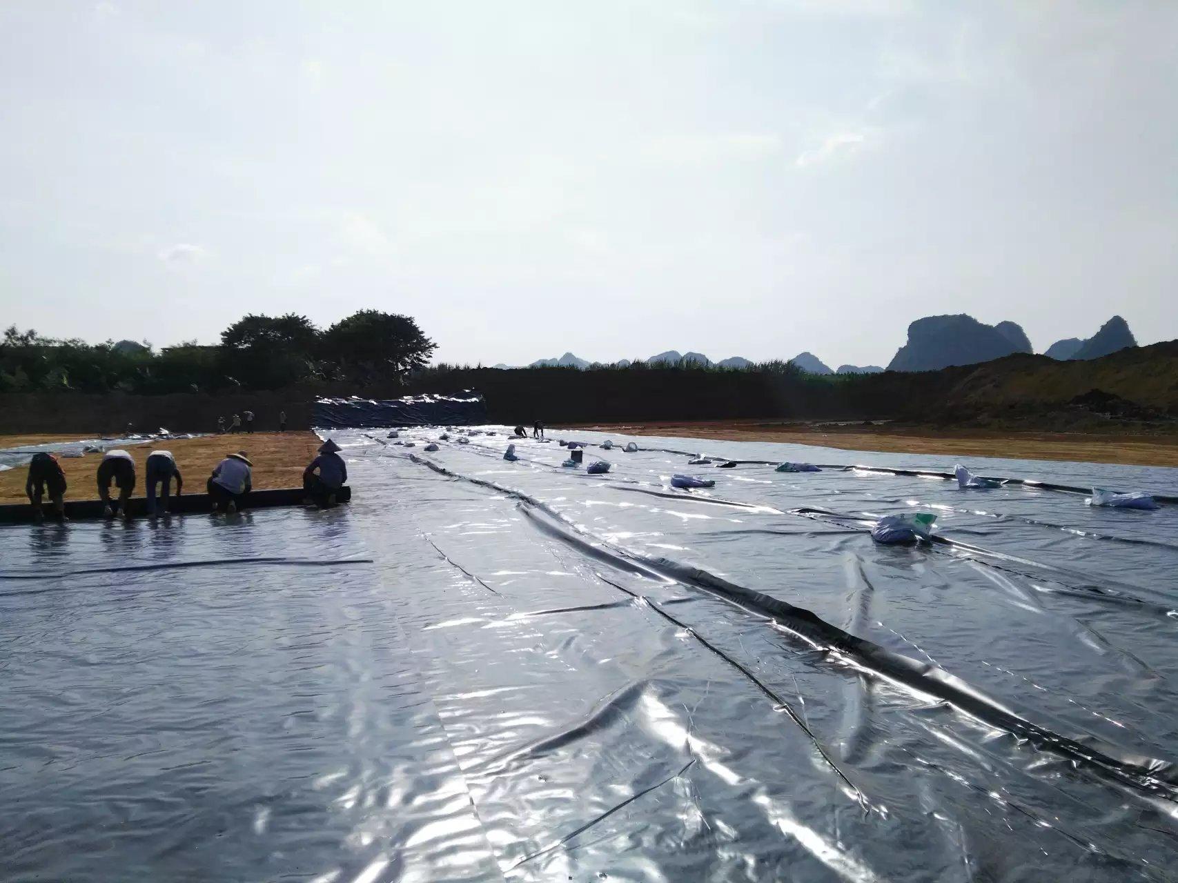 广西自治区鱼类养殖基地防渗膜铺设工程  养殖防渗膜 第4张
